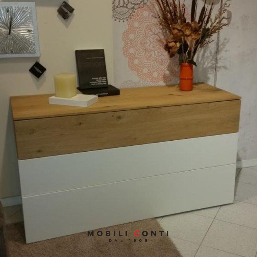 cassettiera legno naturale